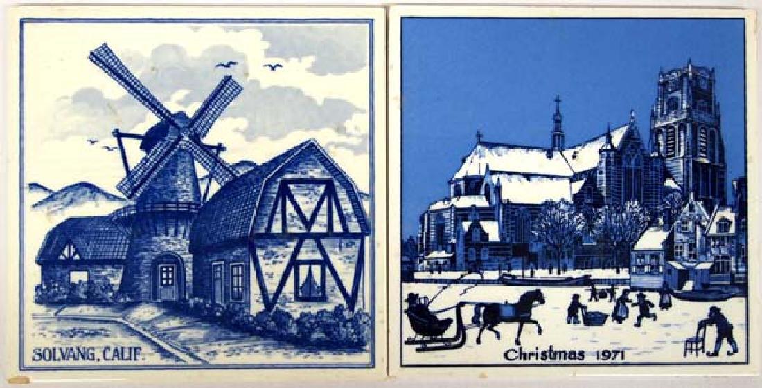 2 Holland Ceramic Tiles, 6'' Square, $6.50 S&H