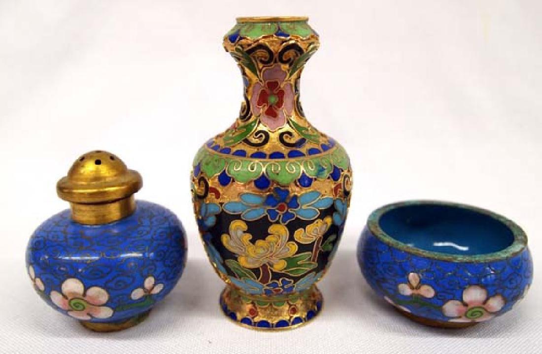 3 Chinese Cloisonne Pieces, 4''Longest, $6.50 S&H