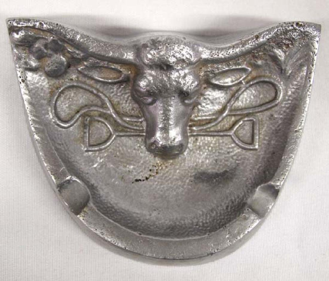 Metal Bullshead Ashtray, 5''L, $6.50 S&H