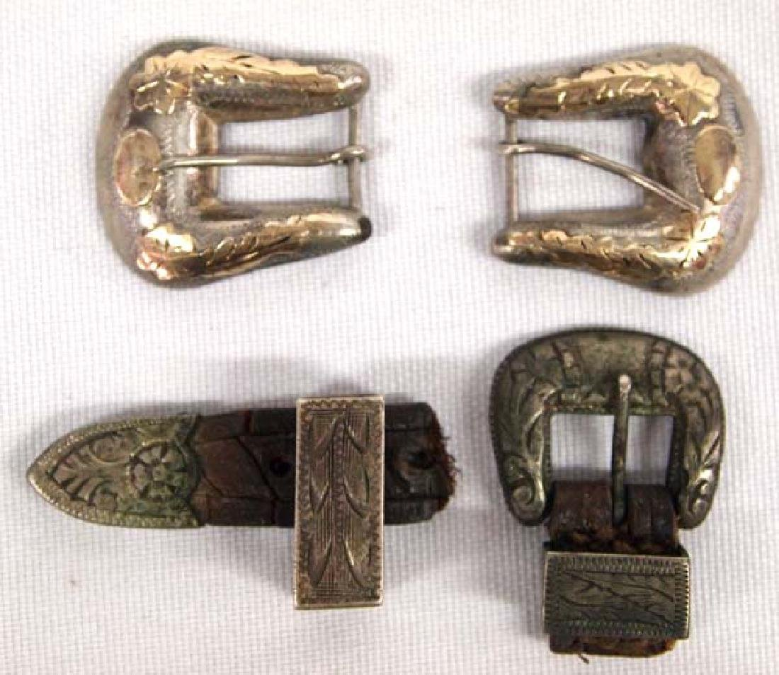 3 Small Sterling Cowboy Buckles, 1''L, $6.50 S&H