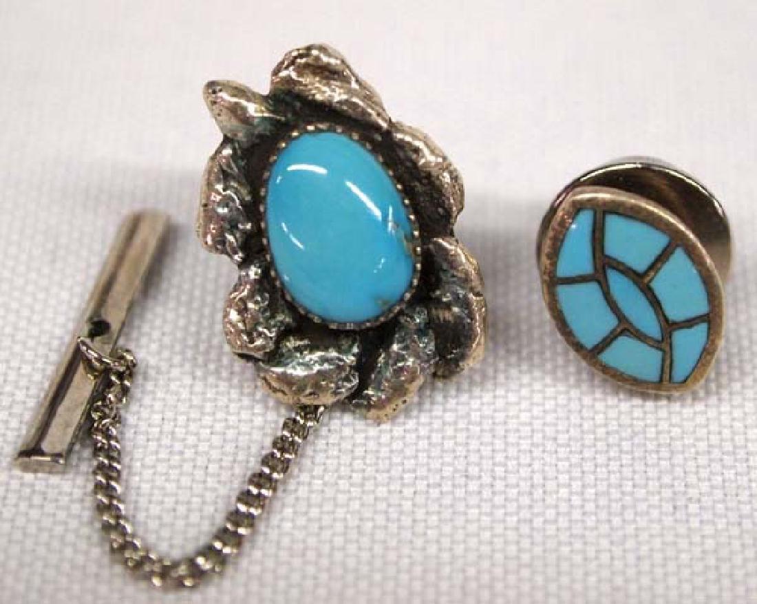 2 Navajo Silver Pins, .5''D, $6.50 S&H
