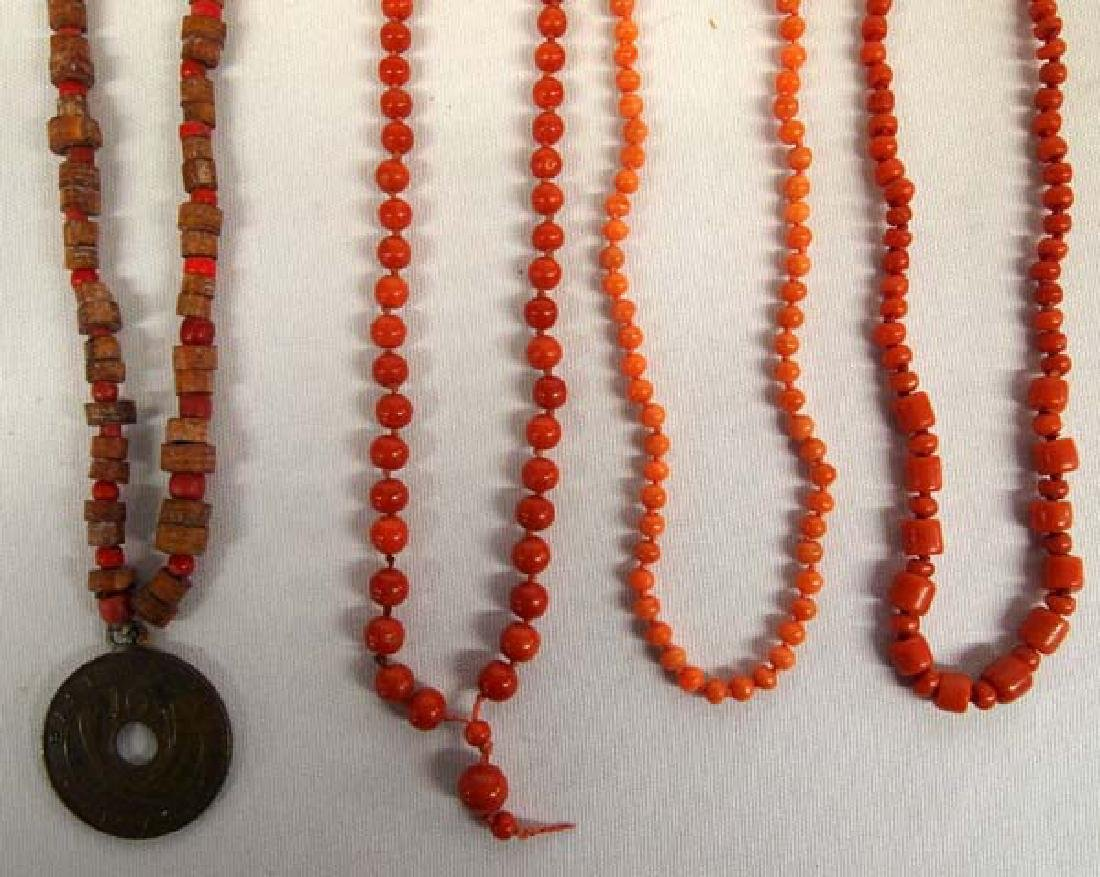 4 African Necklaces, 20''L, $6.50 S&H