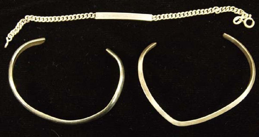 3 Sterling Bracelets, 6''largest, $6.50 S&H