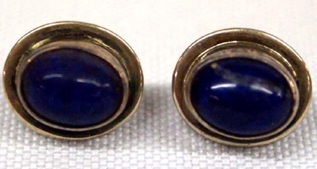 Navajo Silver Lapis Earrings, .5''D, $6.50 S&H