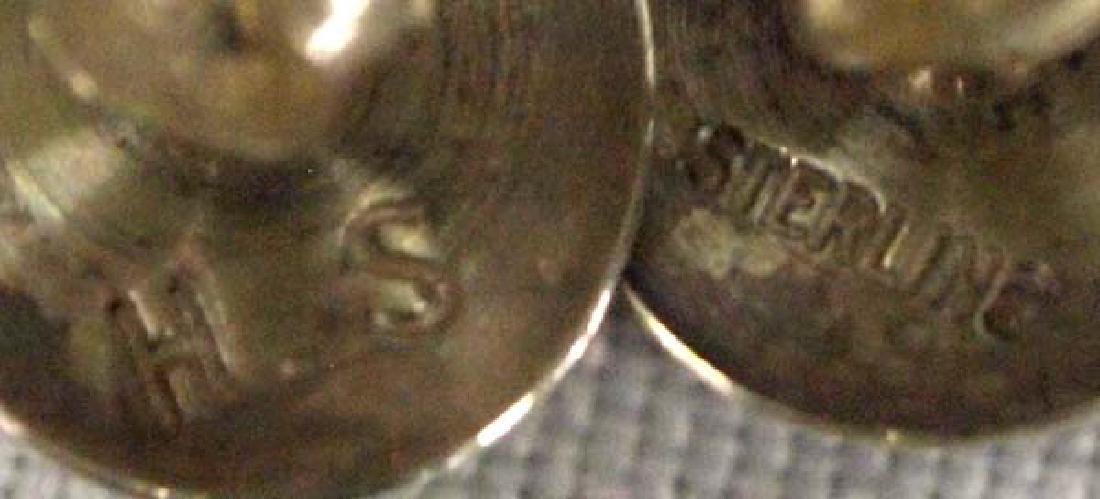 Navajo Silver Lapis Earrings, .5''D, $6.50 S&H - 2