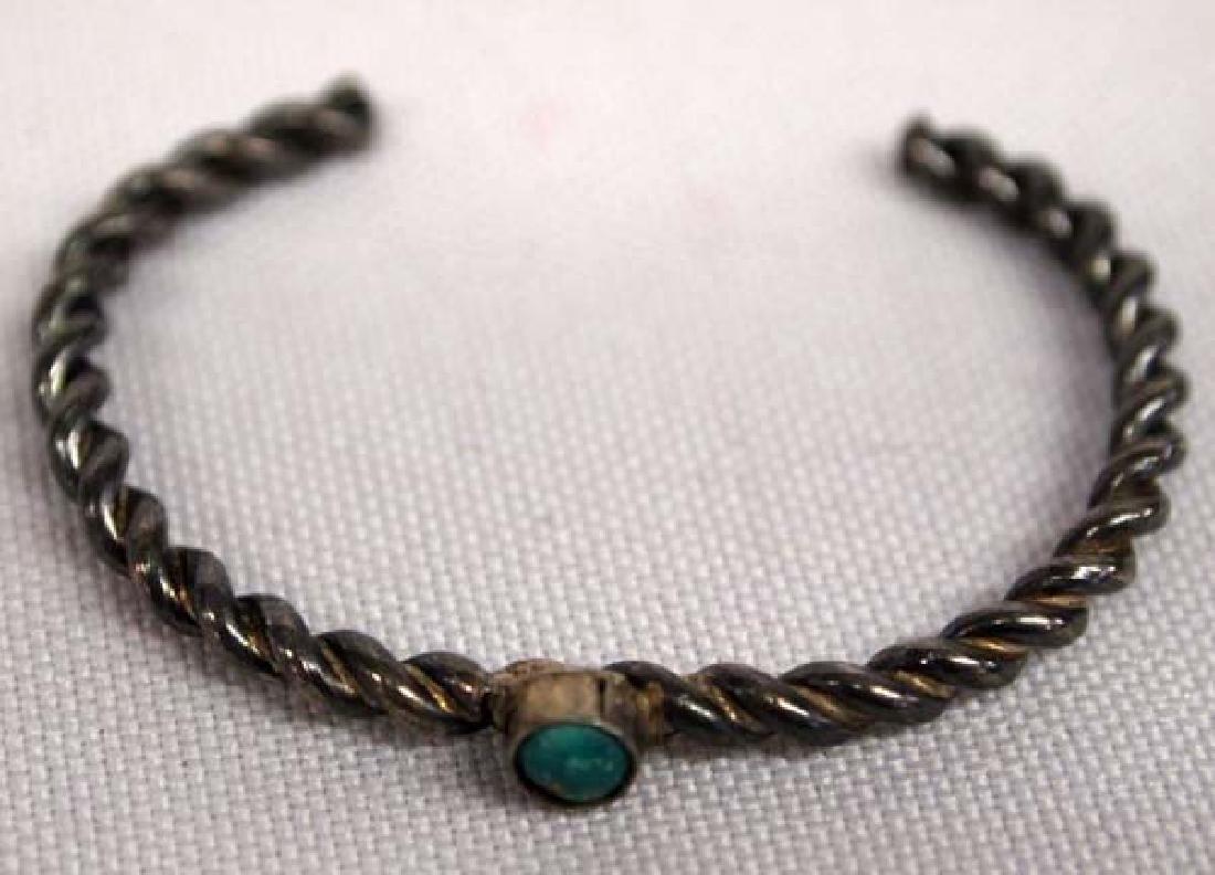 Navajo Silver Child's Bracelet, 4'', S&H $6.50