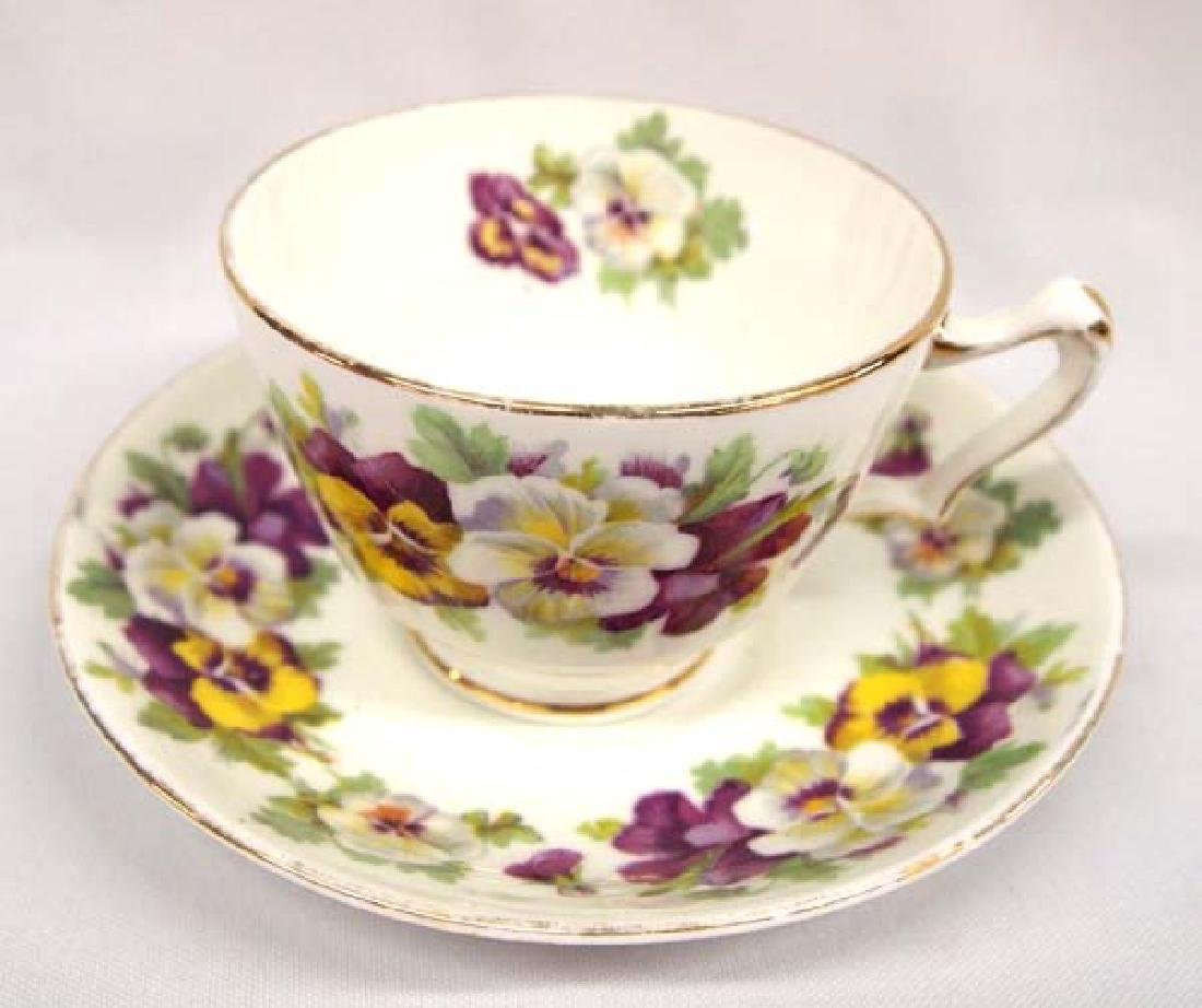 Staffordshire Fine China Cup & Saucer, $14.00 S&H