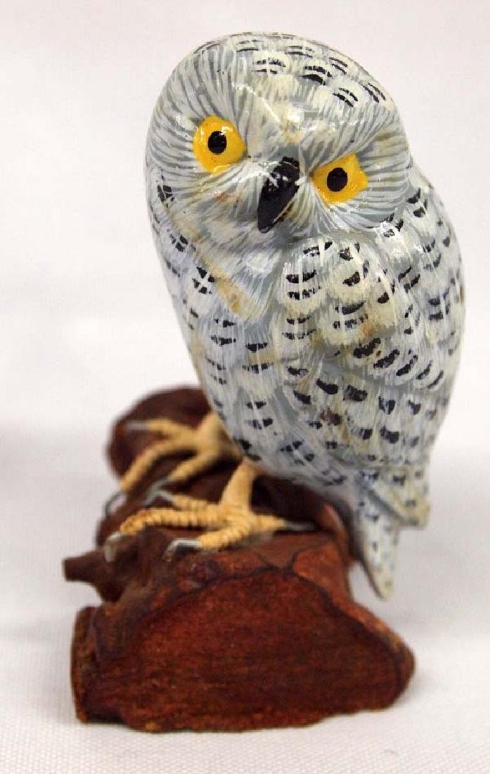 Carved Wood Owl Figurine, 4'', $6.50 S&H