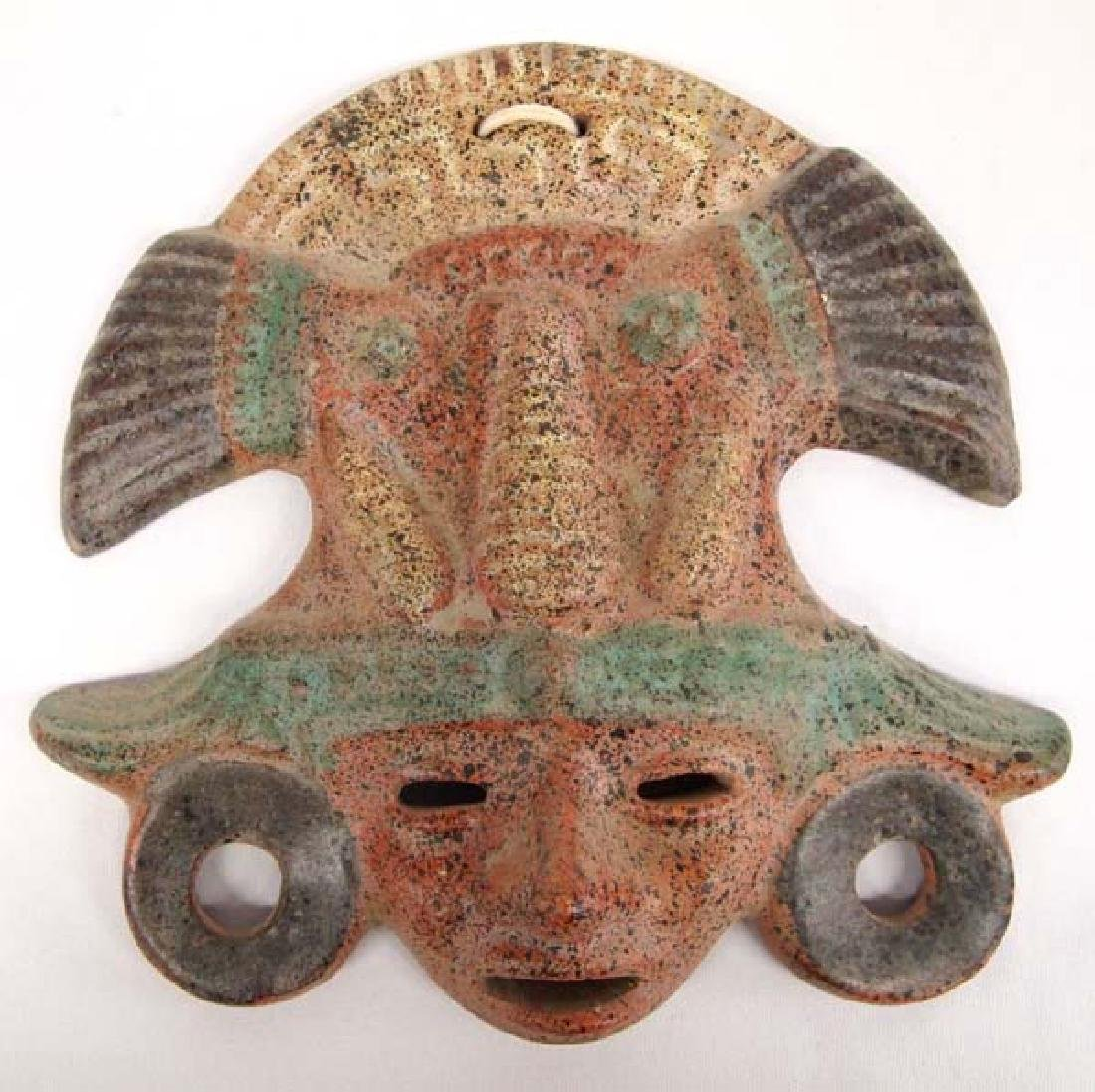Mexican Pottery Mask, 10'', $12.50 S&H