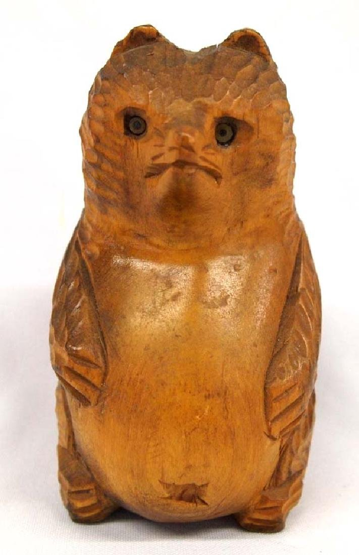 Carved Wood Bear, 8''H, $6.50 S&H