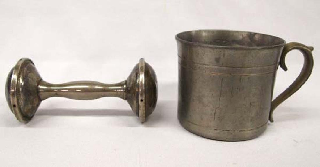 Pewter Cup & SP Rattle, 5''Rattle, $6.50 S&H