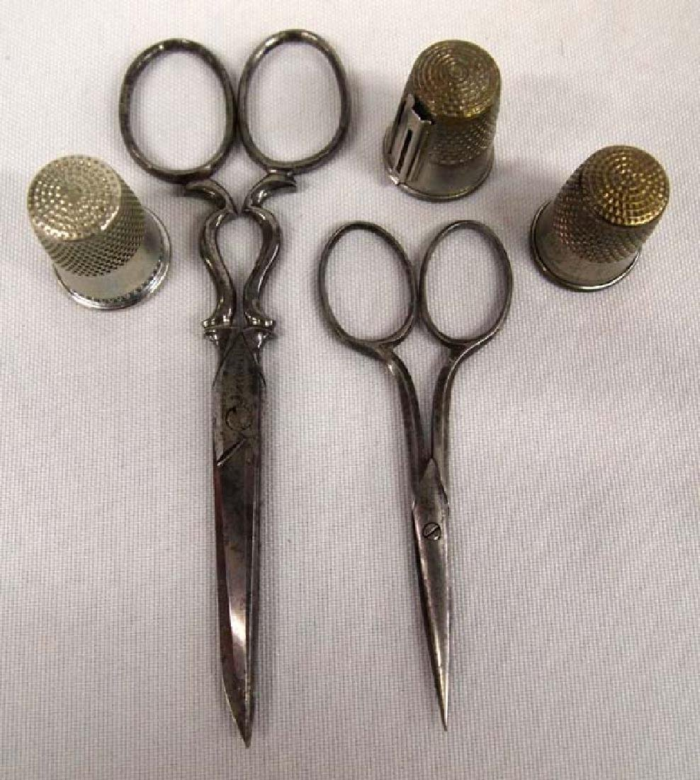 Antique Scissors & Thimbles, 4.5''L, $6.50 S&H