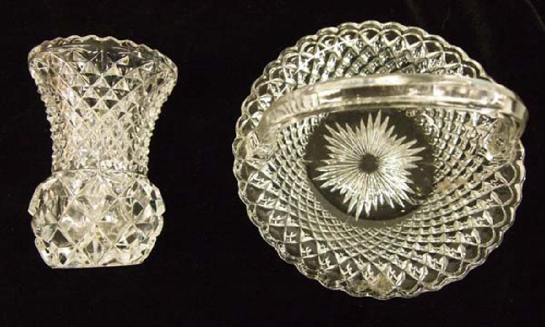2 Cut Crystal Dishes, 4''H, $14.00 S&H