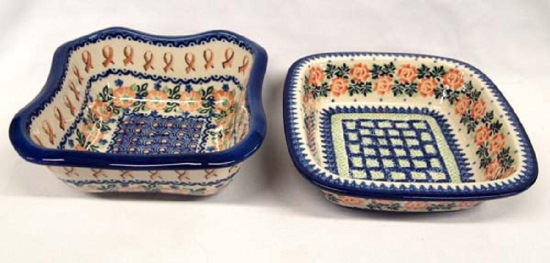 2 Polish Pottery Bowls, 3'' x 7'', $14 S&H