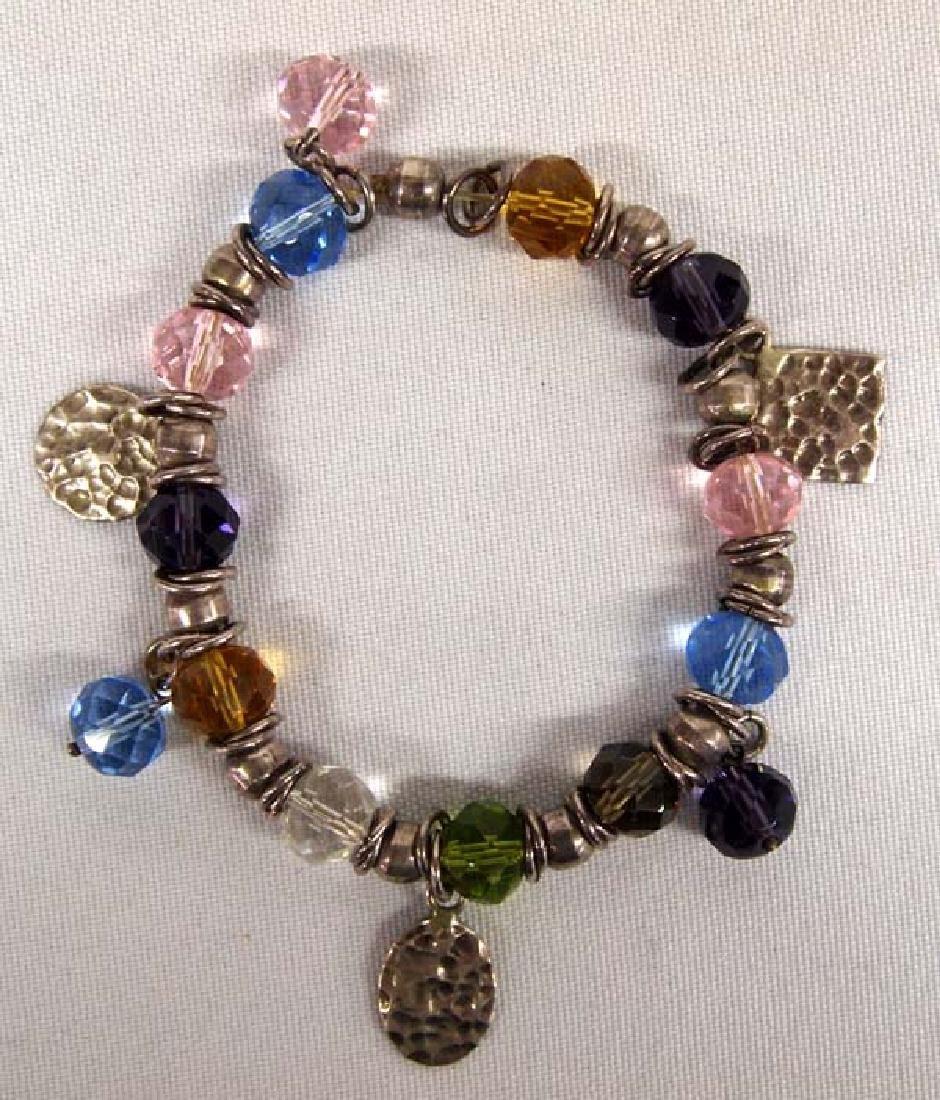 Sterling Gemstone Bracelet, Adjustable, $6.50 S&H