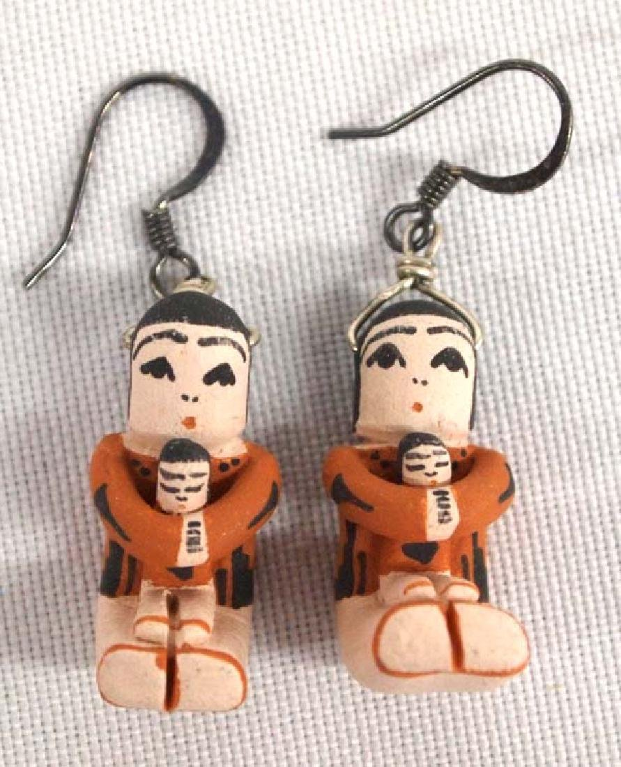 Jemez Pottery Storyteller Earrings by Angel Bailon