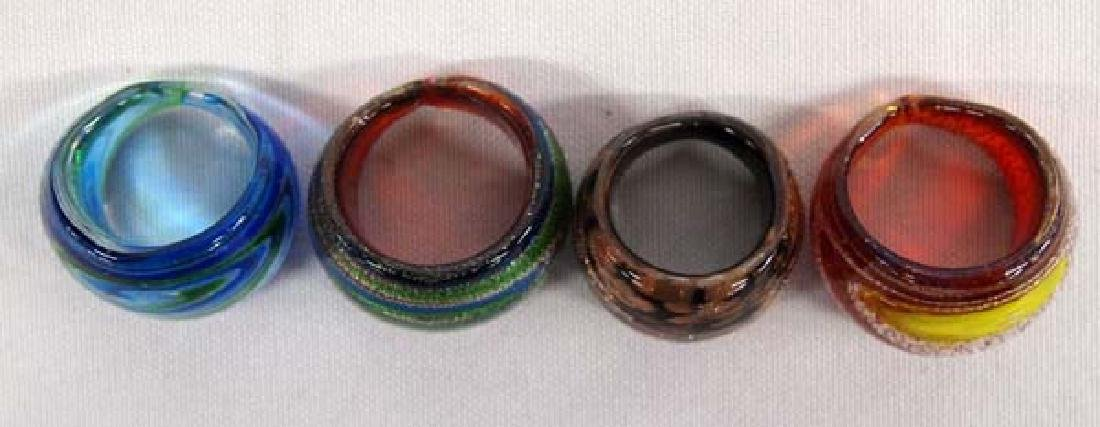 4 Dichroic Glass Dome Rings - 4