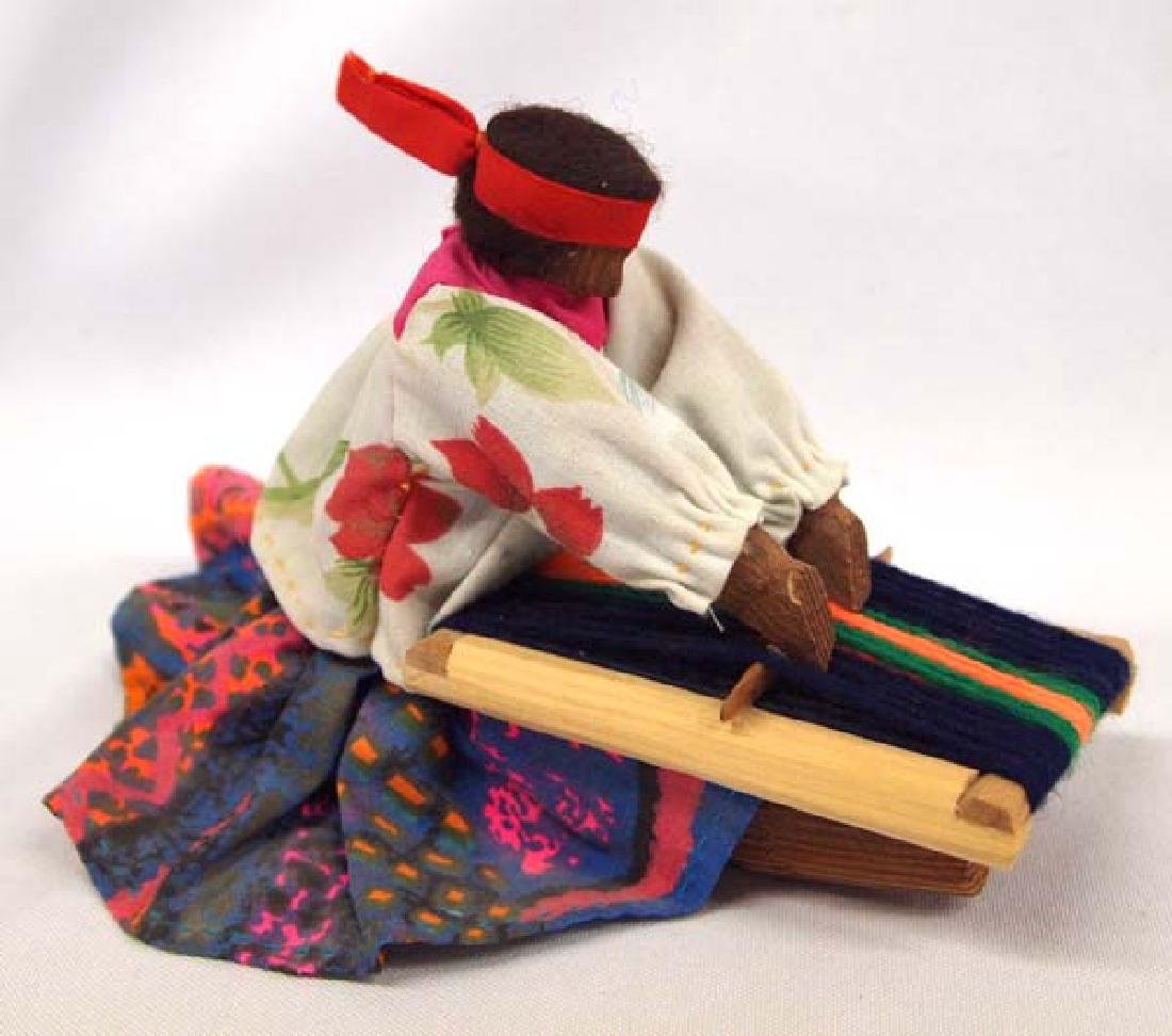 Tarahumara Wood and Cloth Weaver Doll