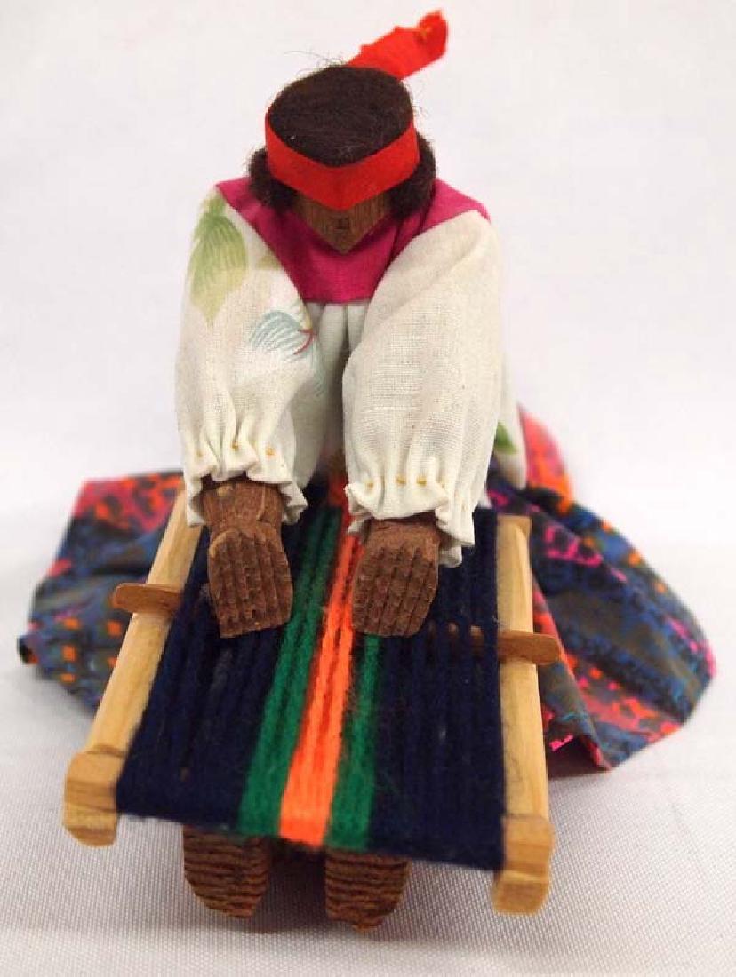 Tarahumara Wood and Cloth Weaver Doll - 2