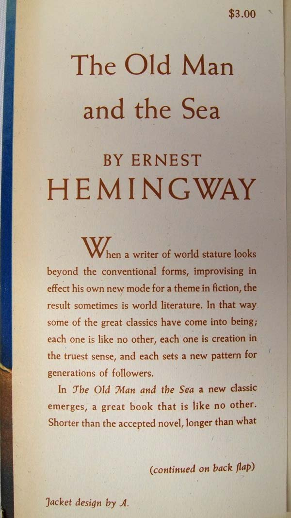 1st Edition The Old Man and the Sea by Hemingway - 3