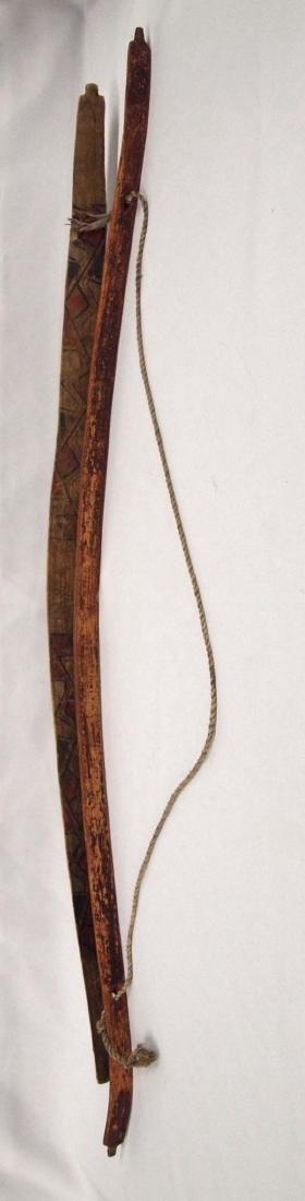 2 Vintage Native American Painted Wood Bows - 2