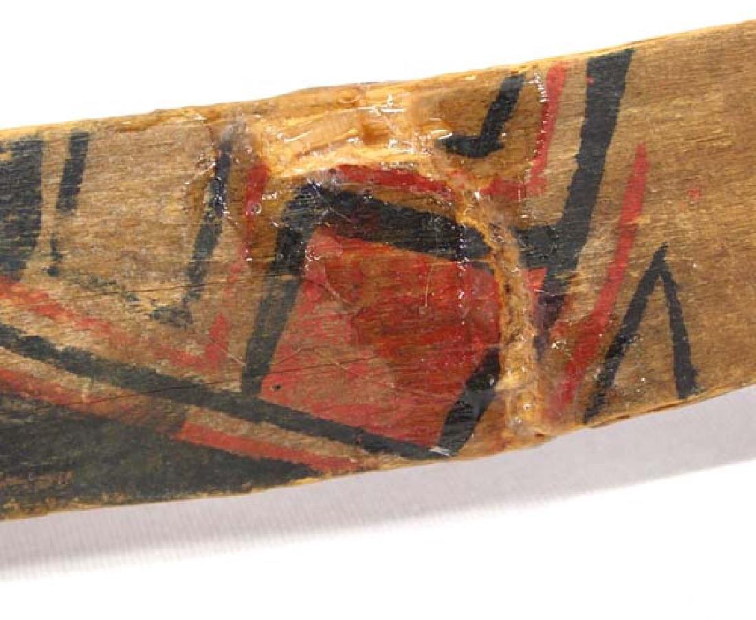 2 Vintage Native American Painted Wood Bows - 3