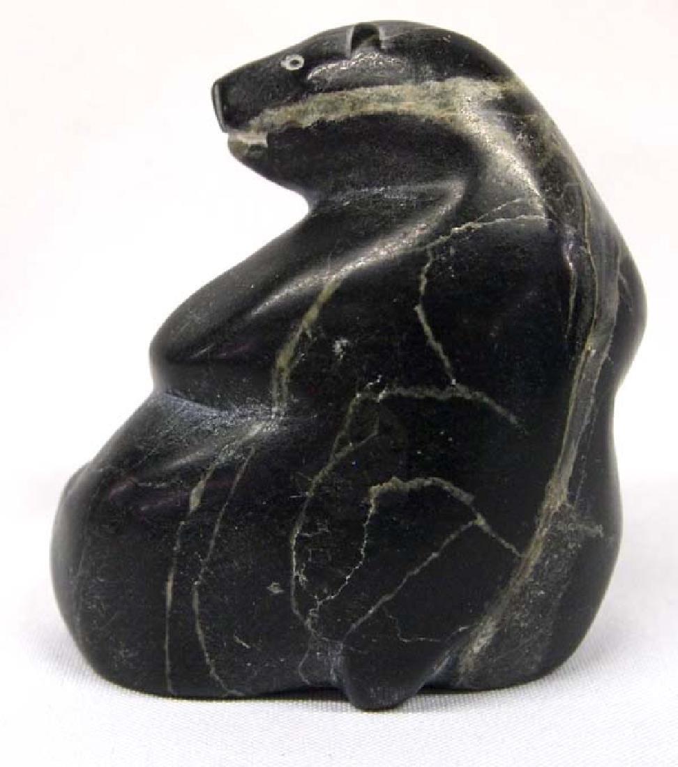1996 Canadian Inuit Carved Stone Polar Bear - 3