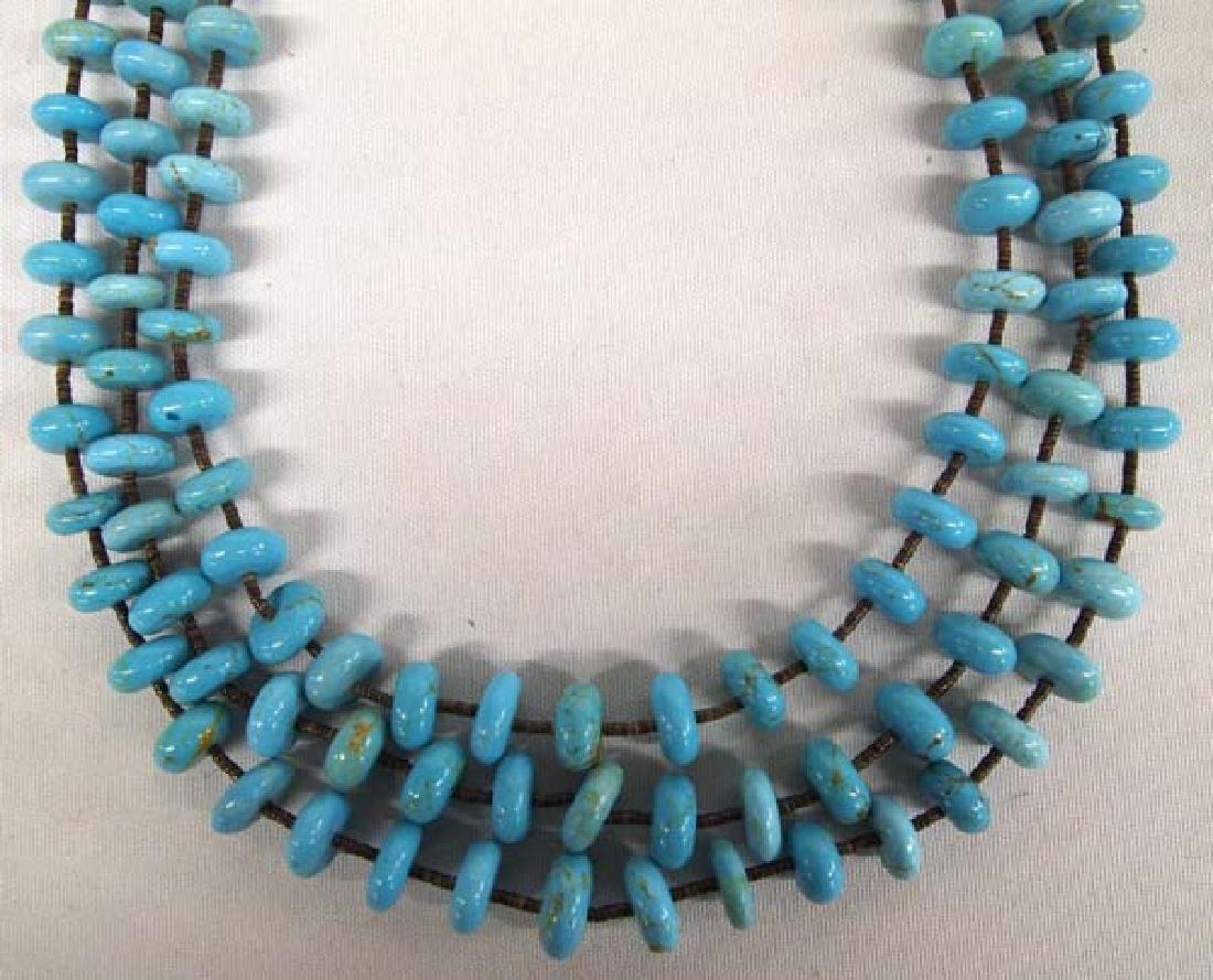 Navajo Sleeping Beauty Mine Turquoise Necklace