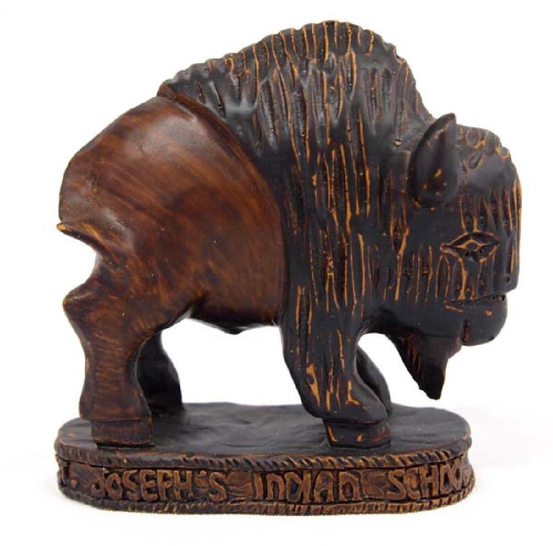 Composite Buffalo Figure