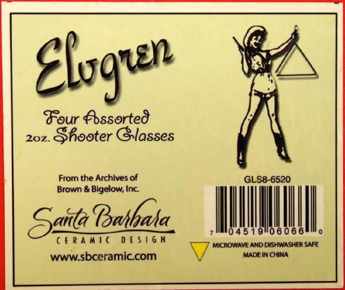Santa Barbara Ceramic Design Elvgren Shot Glasses - 3