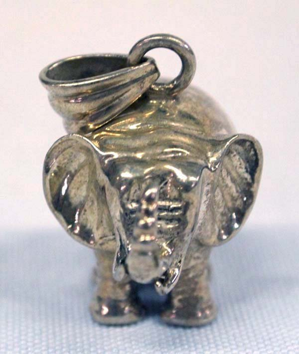 Good Luck Sterling Silver Elephant Pendant - 2