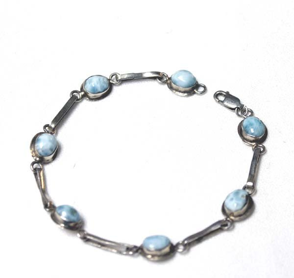 Sterling Silver and Sodalite Link Bracelet