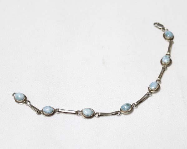 Sterling Silver and Sodalite Link Bracelet - 2