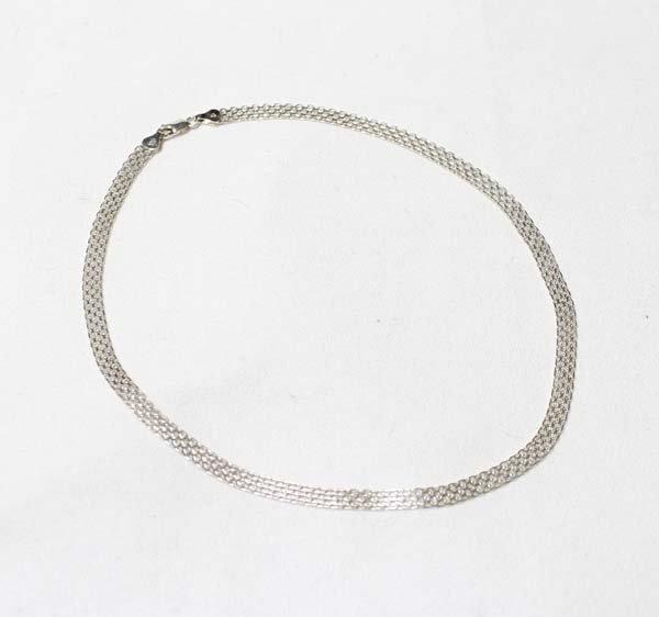 Elegant Italian Sterling Mesh Choker Necklace