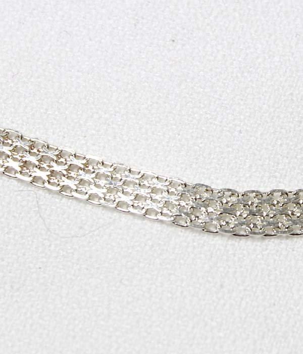Elegant Italian Sterling Mesh Choker Necklace - 3