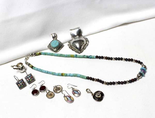 Collection of Sterling Silver Southwestern Jewelry
