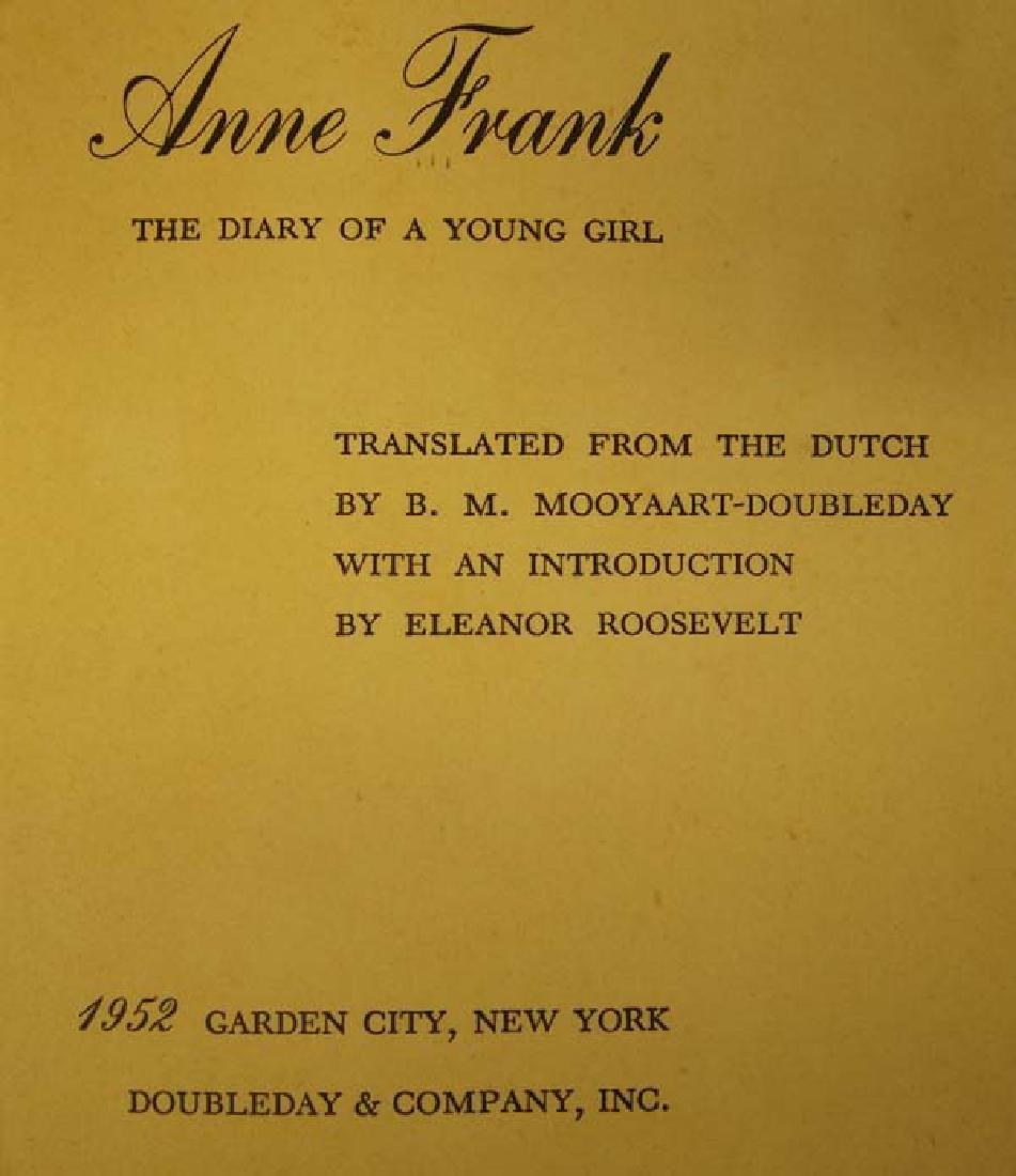 1952 1st Edition Ann Frank Diary of a Young Girl - 2