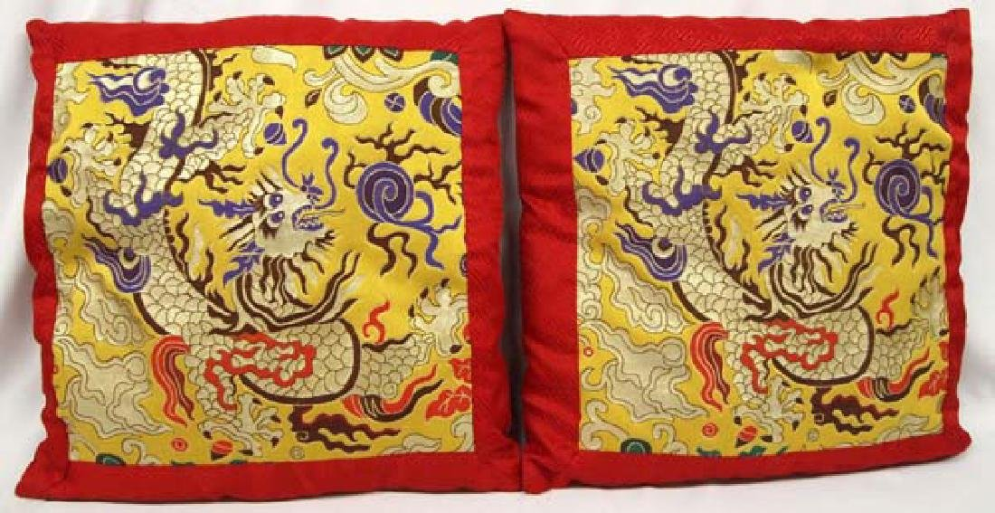 Pair of Chinese Dragon Pillows