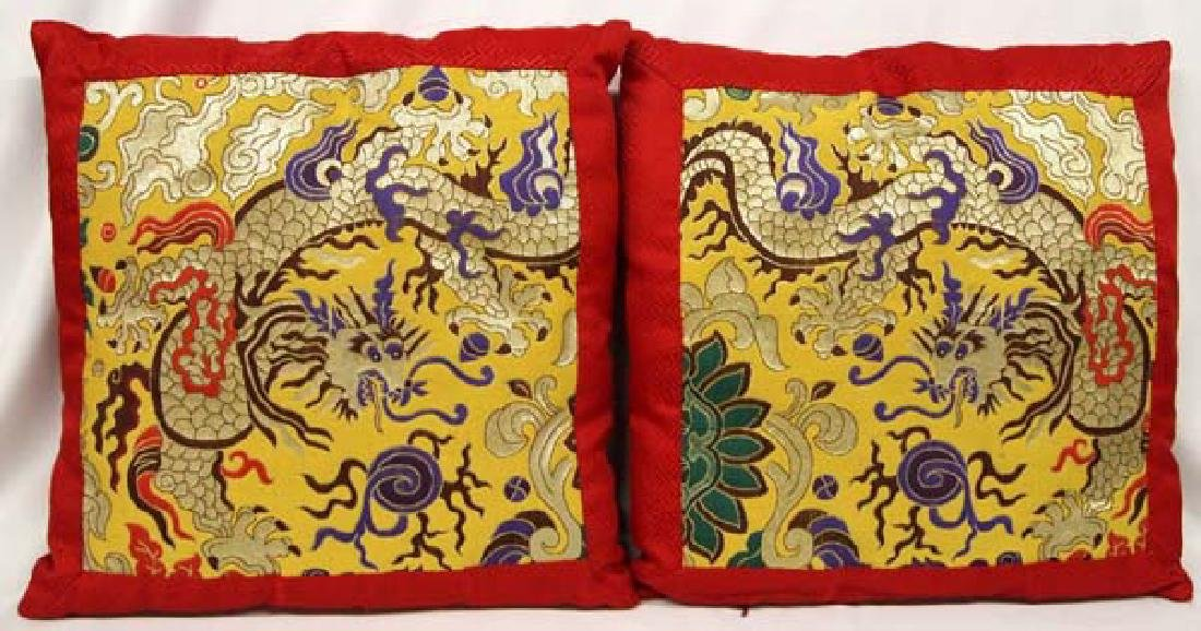 Pair of Chinese Dragon Pillows - 2