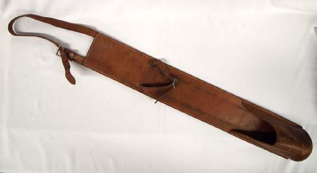 Large Edward H. Bohlin Leather Flag Holder