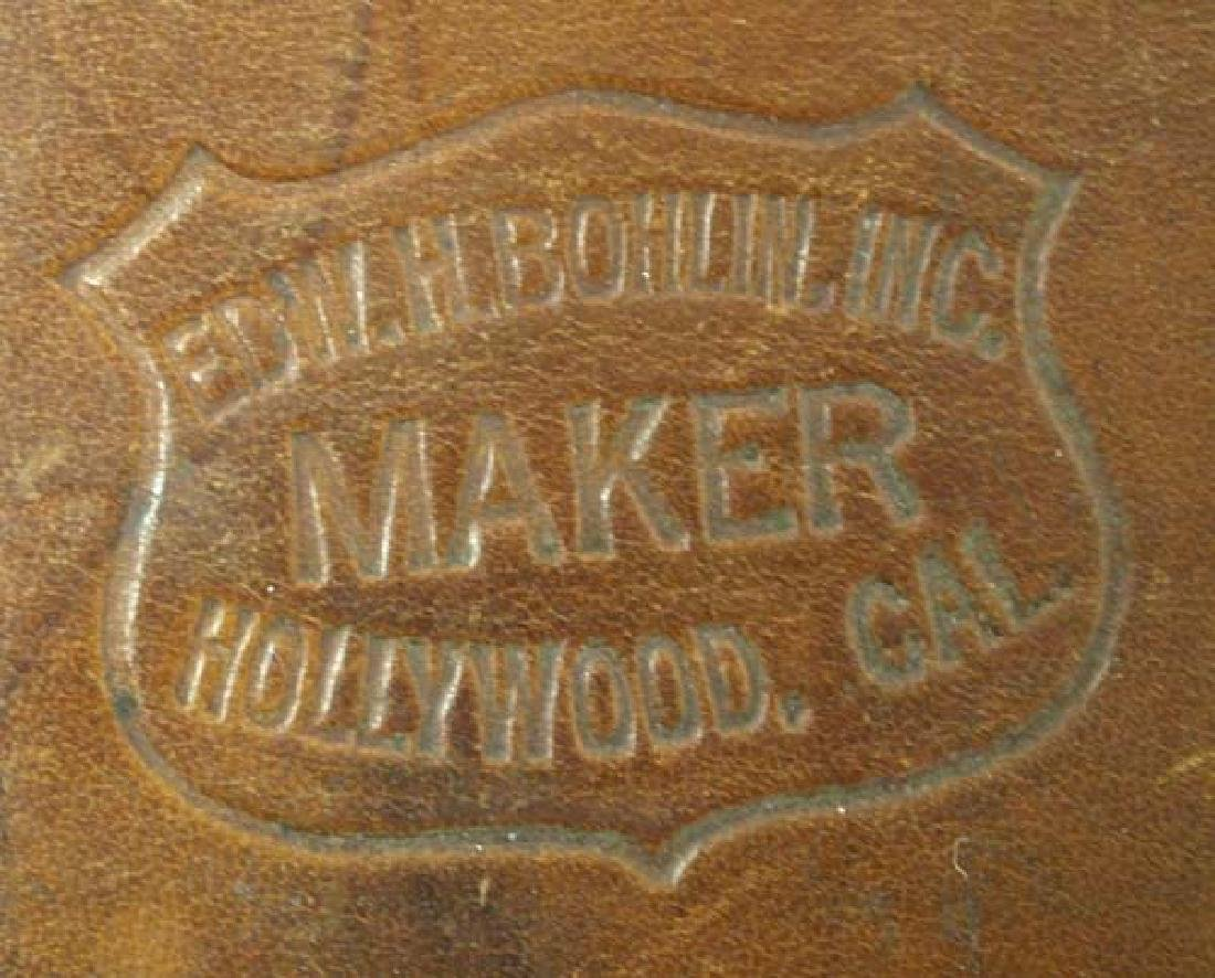 Large Edward H. Bohlin Leather Flag Holder - 3