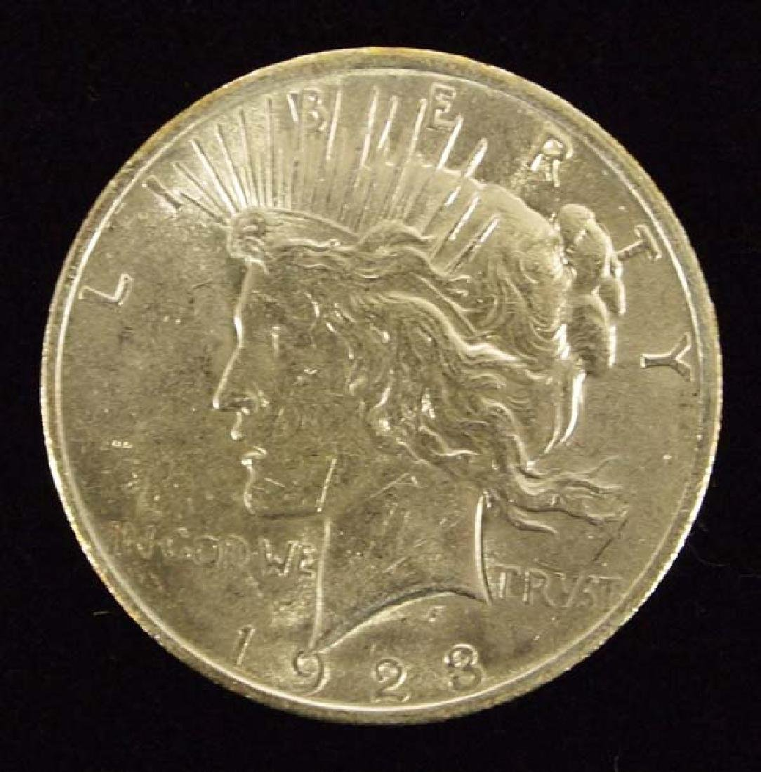 1923 Peace Silver Dollar AU 50
