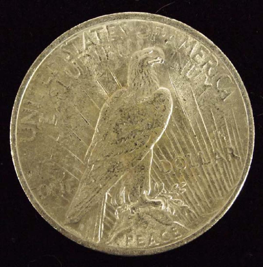 1923 Peace Silver Dollar AU 50 - 2