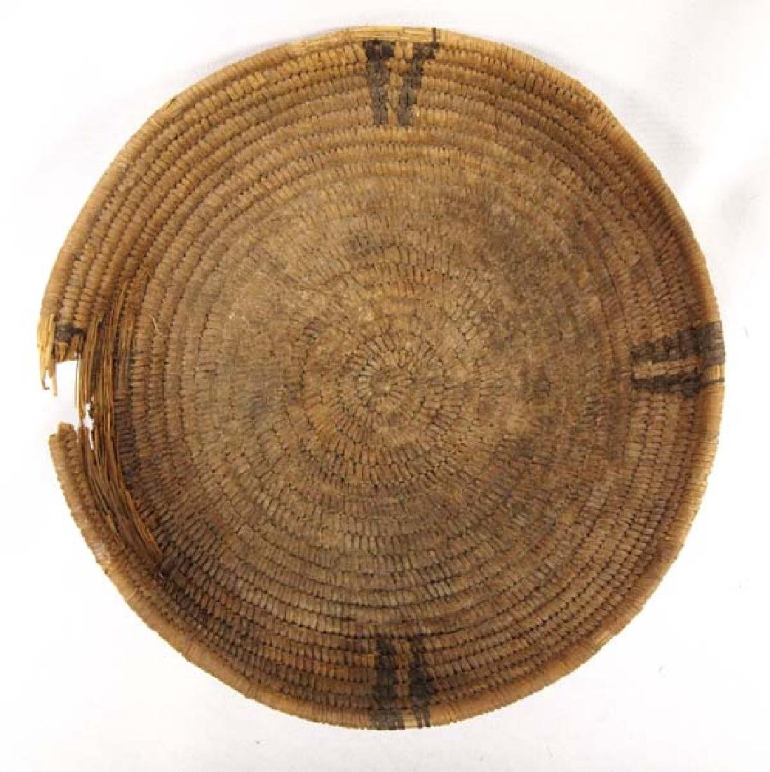 Antique Native American Navajo Two-Toned Basket
