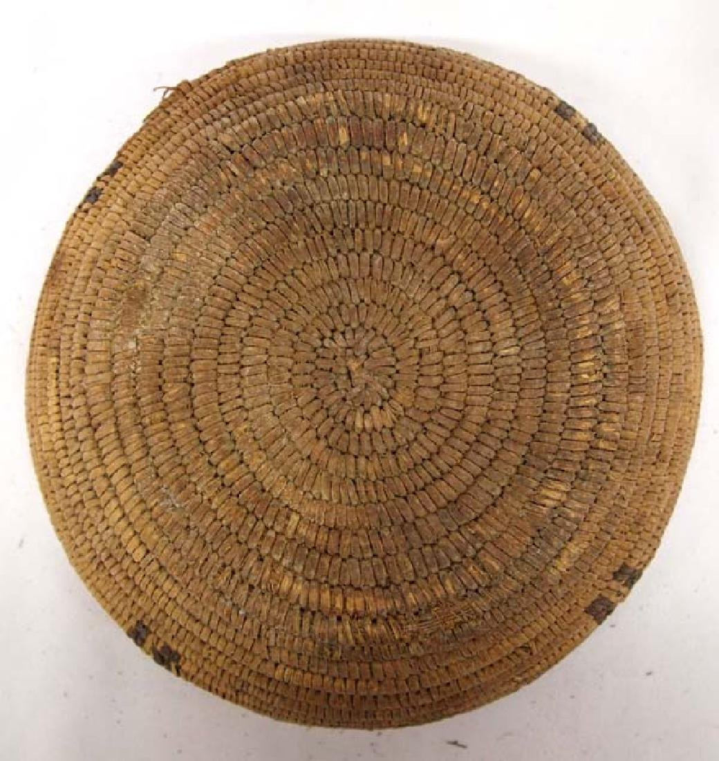 Antique Native American Navajo Two-Toned Basket - 3