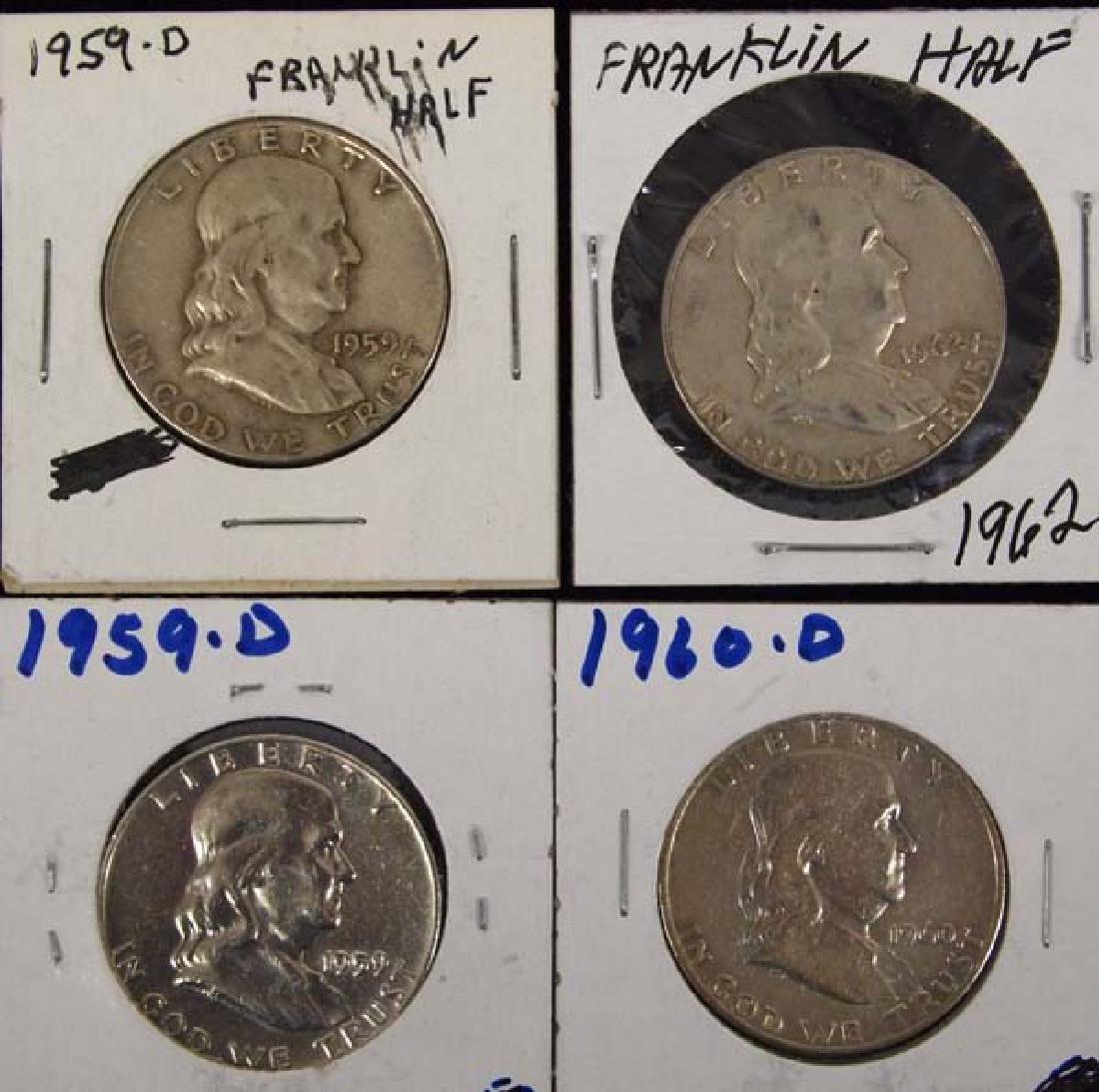 4 Ben Franklin Half Dollars