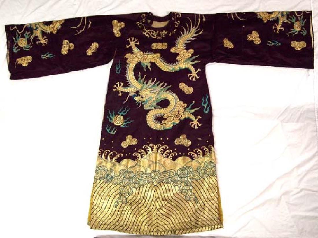 Vintage Chinese Opera Retired  Dragon Kimono Robe