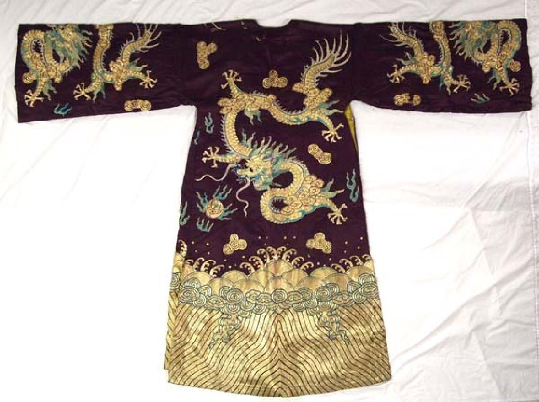 Vintage Chinese Opera Retired  Dragon Kimono Robe - 2