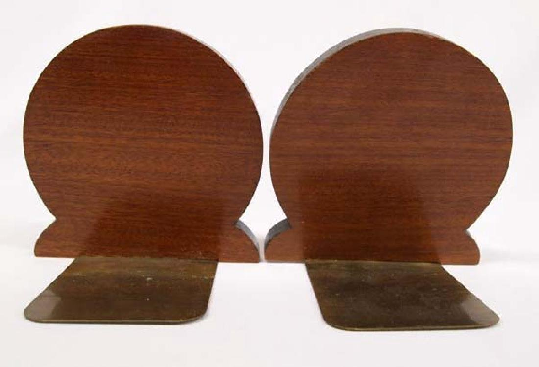 Vintage Mexican Marquetry Wood Bookends - 2