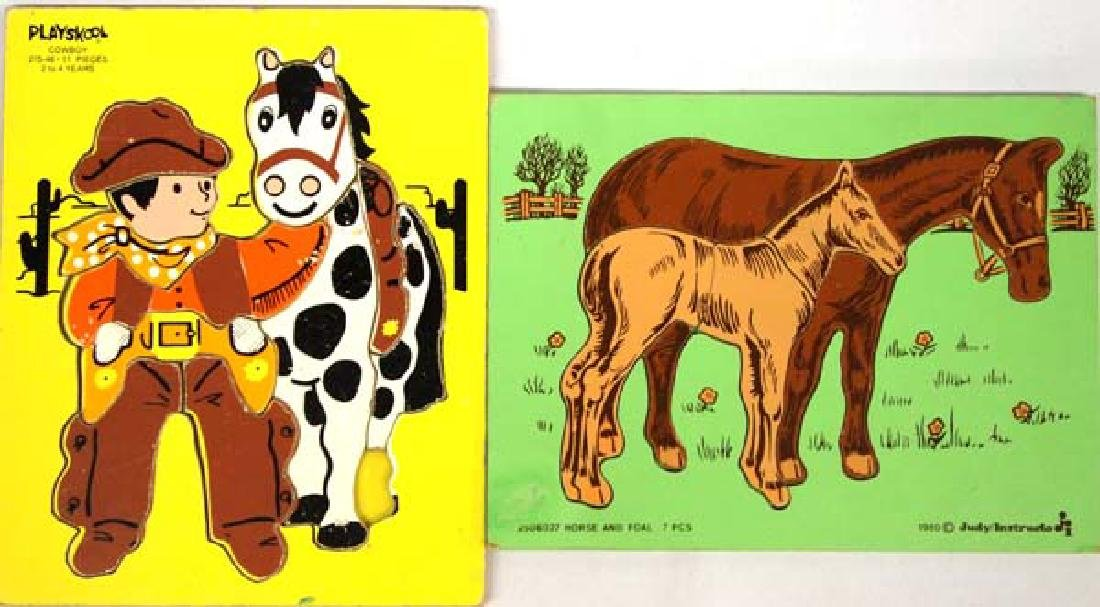 2 Vintage Children's Wood Puzzles